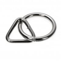 O Ring mit Triangel, 50mm, silber