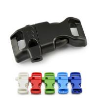 """Klickverschluss Kunststoff mit Notfallpfeife """"whistle"""""""