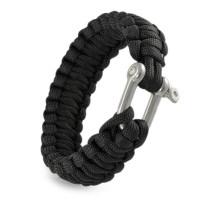 "Paracord Armband handgeflochten Metallschäkel ""basic shackle cobra"""